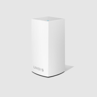 WHW0101-AH Linksys Velop Intelligent Mesh WiFi System, Dual-Band, 1-Pack White (AC1300)