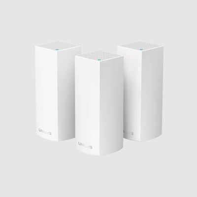 WHW0303-AH Linksys Velop Intelligent Mesh WiFi System, Tri-Band, 3-Pack White (AC6600)