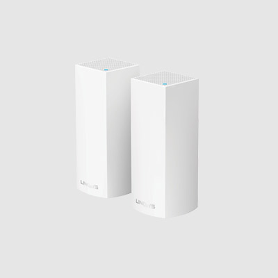 WHW0302-AH Linksys Velop Intelligent Mesh WiFi System, Tri-Band, 2-Pack White (AC4400)