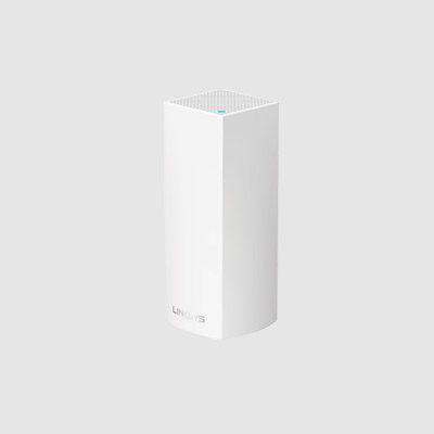 WHW0301-AH Linksys Velop Intelligent Mesh WiFi System, Tri-Band, 1-Pack White (AC2200)
