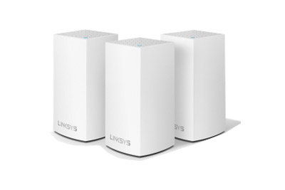 WHW0103-AH Linksys Velop Intelligent Mesh WiFi System, Dual-Band, 3-Pack White (AC3900)