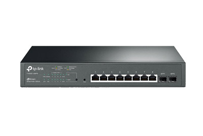 T1500G-10MPS JetStream 8-Port Gigabit Smart PoE+ Switch with 2 SFP Slots