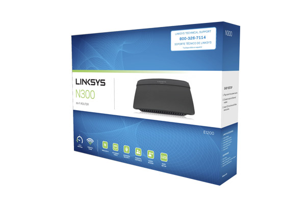 LINKSYS E1200 N300 WIRELESS ROUTER 4